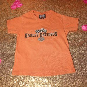Harley Davidson childs 2t T-shirt orange